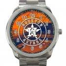 Houston Astros MLB Baseball Team Logo Design 1 Unisex Sport Metal Watch