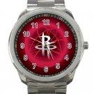 Houston Rockets NBA Basketball Team Logo Unisex Sport Metal Watch