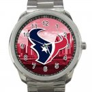 Houston Texans NFL Football Team Unisex Sport Metal Watch