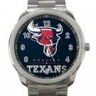 Houston Texans NFL Football Team Logo Unisex Sport Metal Watch