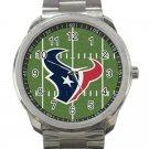 Houston Texans NFL Football Team Logo Design 1-Unisex Sport Metal Watch