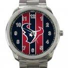 Houston Texans NFL Football Team Logo Design 3-Unisex Sport Metal Watch