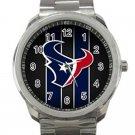 Houston Texans NFL Football Team Logo Design 4-Unisex Sport Metal Watch