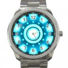 Iron Man Arc Reactor Avengers Logo 1-Unisex Sport Metal Watch