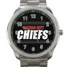 Kansas City Chiefs NFL Football Team Unisex Sport Metal Watch
