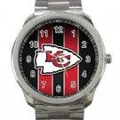 Kansas City Chiefs NFL Football Team Logo Unisex Sport Metal Watch