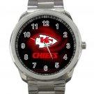 Kansas City Chiefs NFL Football Team Design 1-Unisex Sport Metal Watch
