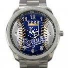 Kansas City Royals MLB Baseball Team Logo 2-Unisex Sport Metal Watch