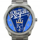 Kansas City Royals MLB Baseball Team Logo 3-Unisex Sport Metal Watch