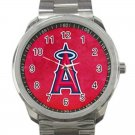 Los Angeles Angels of Anaheim MLB Baseball Team Unisex Sport Metal Watch