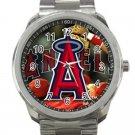 Los Angeles Angels of Anaheim MLB Baseball Team Logo Unisex Sport Metal Watch