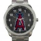 Los Angeles Angels of Anaheim MLB Baseball Team Logo 1-Unisex Sport Metal Watch