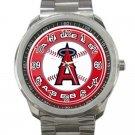 Los Angeles Angels of Anaheim MLB Baseball Team Logo 3-Unisex Sport Metal Watch