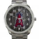Los Angeles Angels of Anaheim MLB Baseball Team Logo 6-Unisex Sport Metal Watch