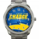 Los Angeles Chargers NFL Football Team Logo Unisex Sport Metal Watch