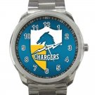 Los Angeles Chargers NFL Football Team Logo Design 1 Unisex Sport Metal Watch