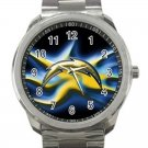 Los Angeles Chargers NFL Football Team Logo Design 2 Unisex Sport Metal Watch