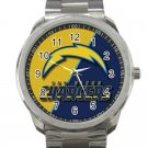 Los Angeles Chargers NFL Football Team Logo Design 3 Unisex Sport Metal Watch