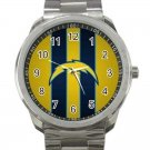 Los Angeles Chargers NFL Football Team Logo Design 4 Unisex Sport Metal Watch