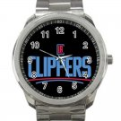 Los Angeles Clippers NBA Basketball Team Logo Design 2 Unisex Sport Metal Watch