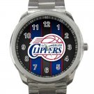 Los Angeles Clippers NBA Basketball Team Logo Design 3 Unisex Sport Metal Watch