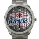 Los Angeles Clippers NBA Basketball Team Logo Design 4 Unisex Sport Metal Watch
