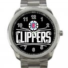 Los Angeles Clippers NBA Basketball Team Logo Design 5 Unisex Sport Metal Watch