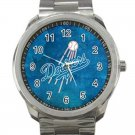 Los Angeles Dodgers MLB Baseball Team Logo Unisex Sport Metal Watch