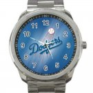 Los Angeles Dodgers MLB Baseball Team Logo Design 1 Unisex Sport Metal Watch