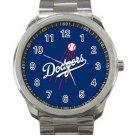 Los Angeles Dodgers MLB Baseball Team Logo Design 2 Unisex Sport Metal Watch