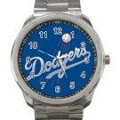 Los Angeles Dodgers MLB Baseball Team Logo Design 6 Unisex Sport Metal Watch