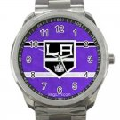 Los Angeles Kings NHL Ice Hockey Teams Logo Design 1 Unisex Sport Metal Watch