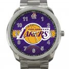 Los Angeles Lakers NBA Basketball Team Logo Unisex Sport Metal Watch