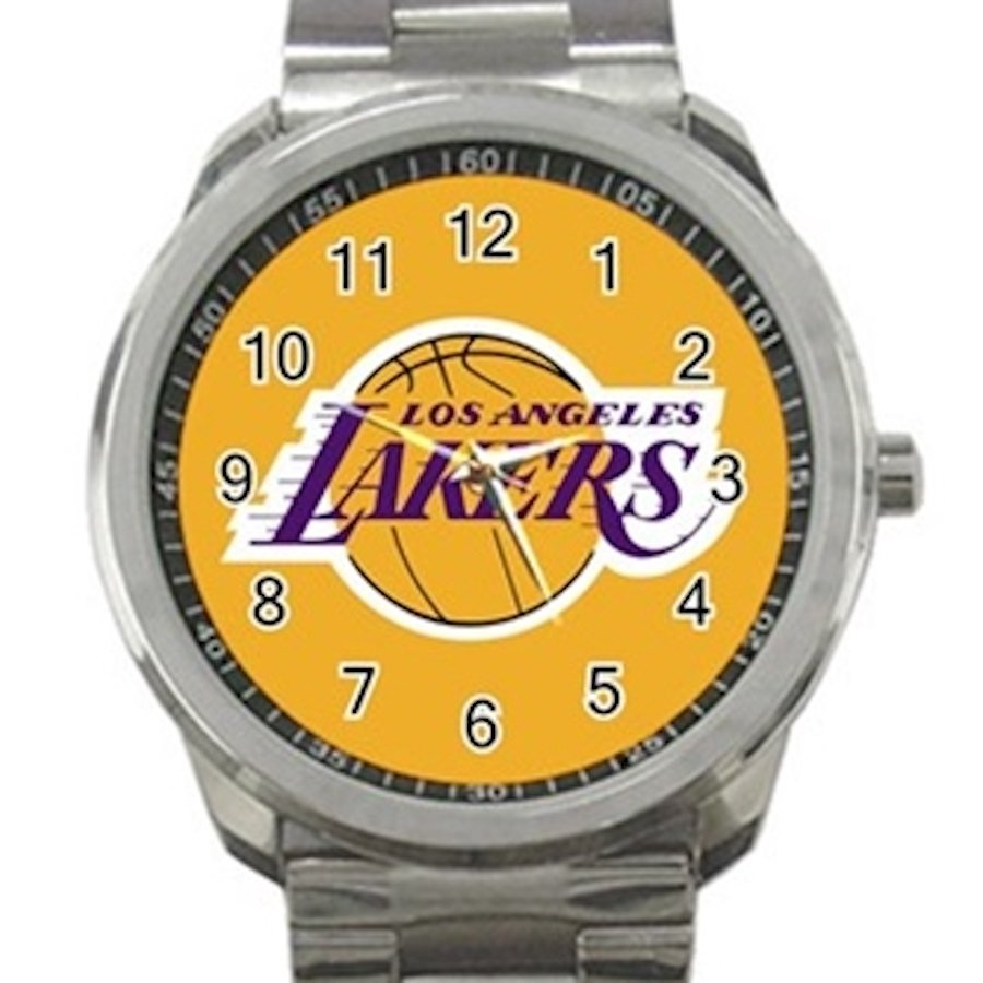 Los Angeles Lakers NBA Basketball Team Logo Design 1 Unisex Sport Metal Watch