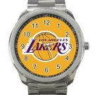Los Angeles Lakers NBA Basketball Team Logo Design 1 Unisex Sport Metal Watch