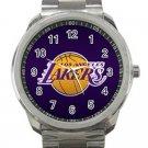 Los Angeles Lakers NBA Basketball Team Logo Design 3 Unisex Sport Metal Watch