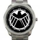 Marvel Avengers Shield Logo Design 3 Unisex Sport Metal Watch