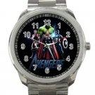 Marvel Avengers Shield Logo Design 4 Unisex Sport Metal Watch