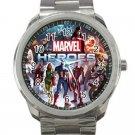 Marvel Avengers Shield Logo Design 5 Unisex Sport Metal Watch