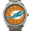 Miami Dolphins NFL Football Team Unisex Sport Metal Watch