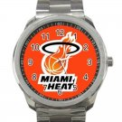 Miami Heat NBA Basketball Team Logo Design 6 Unisex Sport Metal Watch