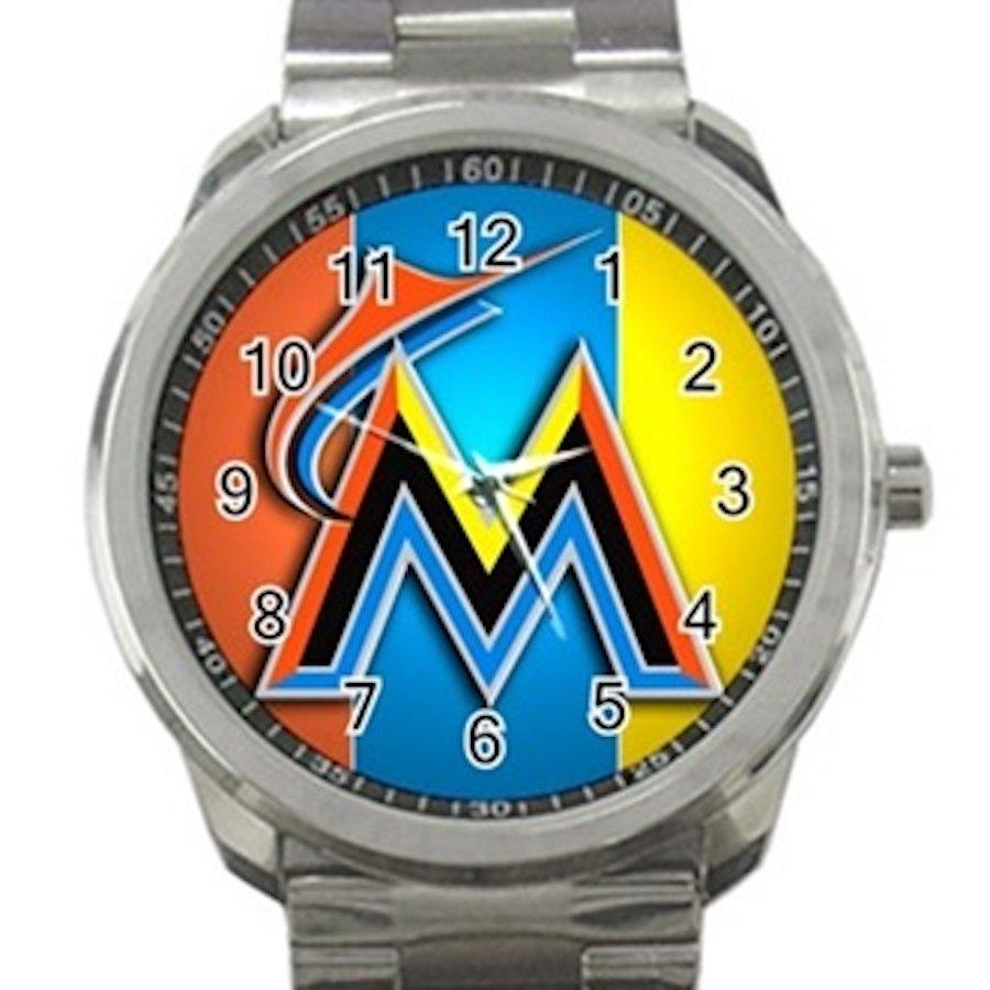 Miami Marlins MLB Baseball Team Logo Unisex Sport Metal Watch