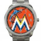 Miami Marlins MLB Baseball Team Logo 10 Unisex Sport Metal Watch