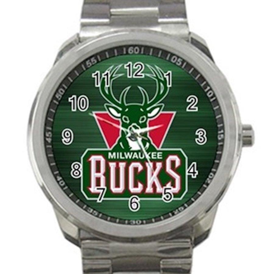 Milwaukee Bucks NBA Basketball Team Logo Unisex Sport Metal Watch