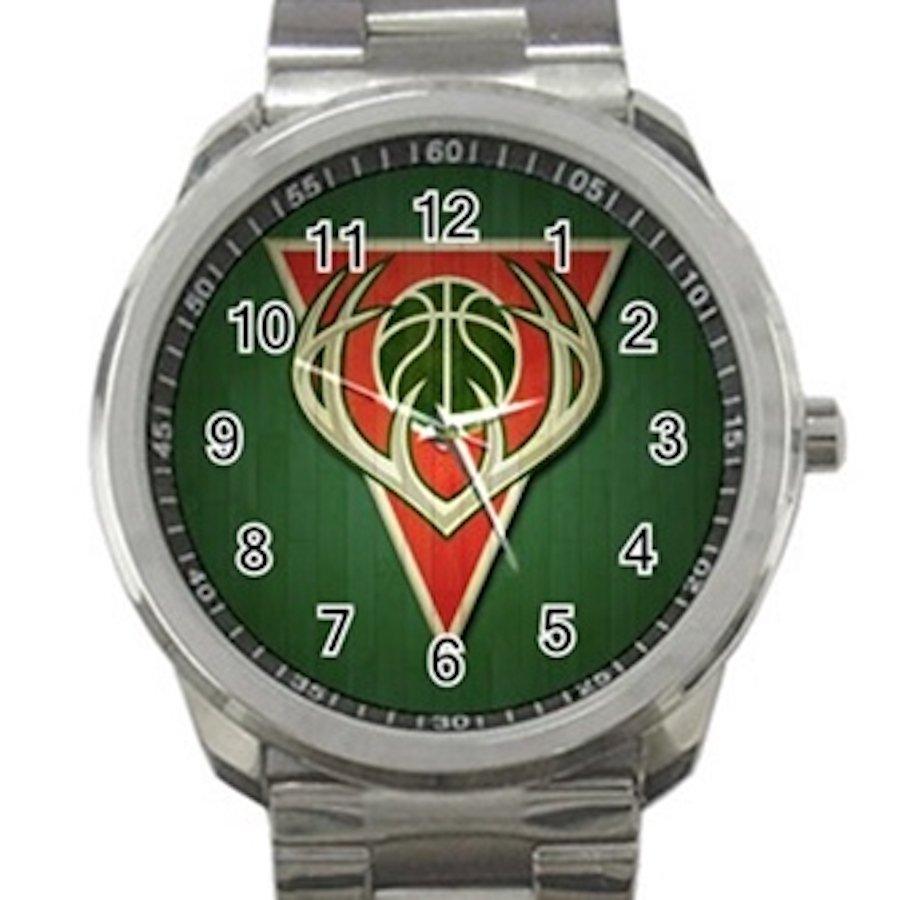 Milwaukee Bucks NBA Basketball Team Logo Design 1 Unisex Sport Metal Watch