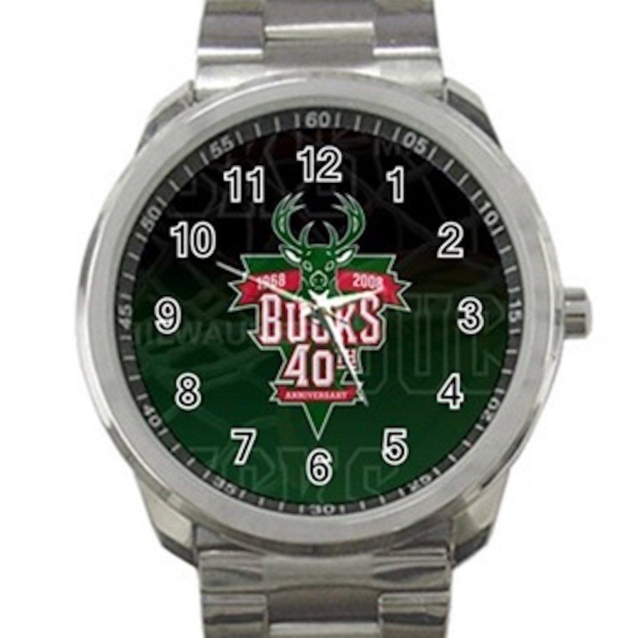 Milwaukee Bucks NBA Basketball Team Logo Design 2 Unisex Sport Metal Watch