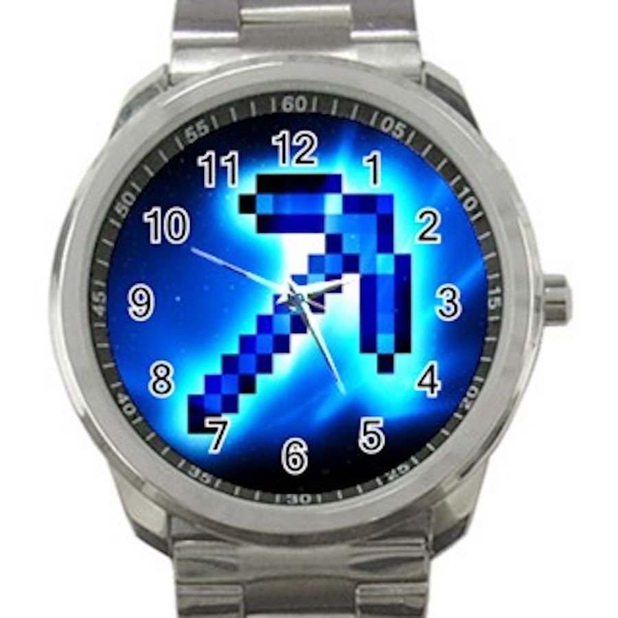 Minecraft Creeper Swords Diamond Steeve Design 1 Unisex Sport Metal Watch