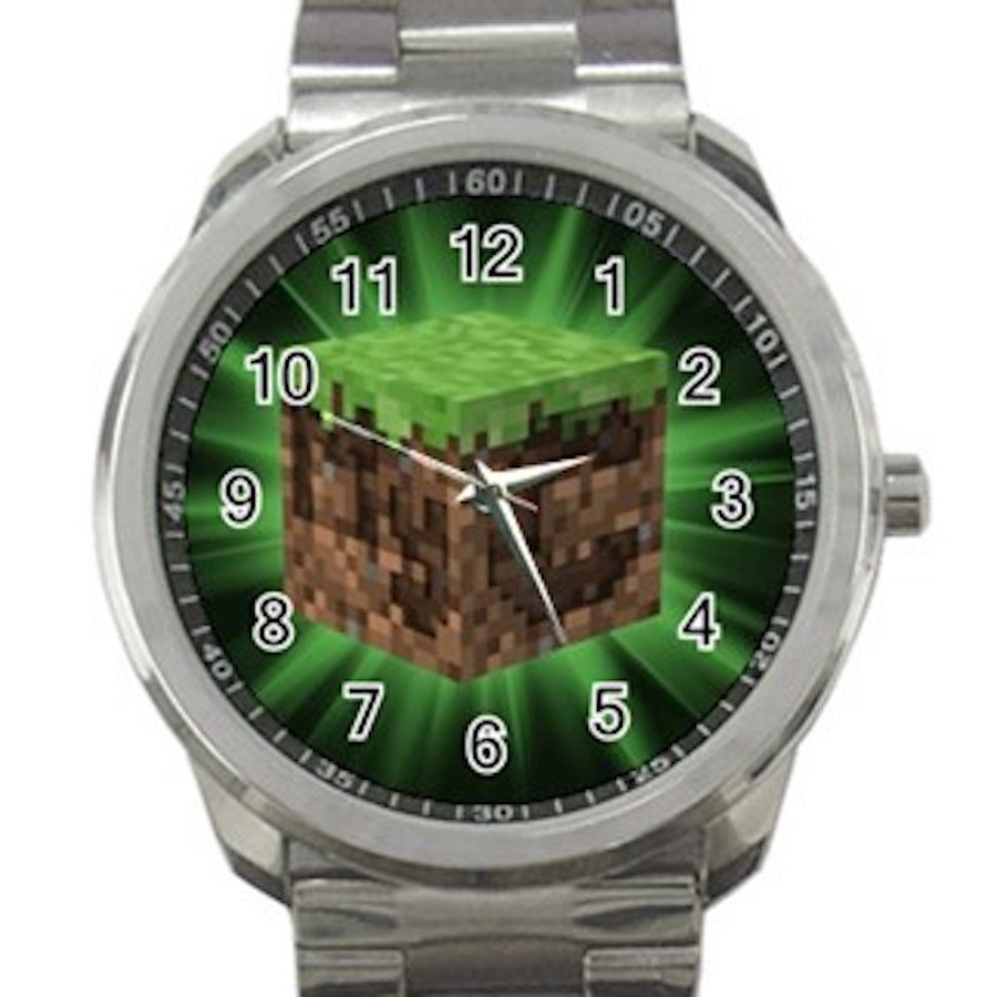 Minecraft Creeper Swords Diamond Steeve Design 7 Unisex Sport Metal Watch