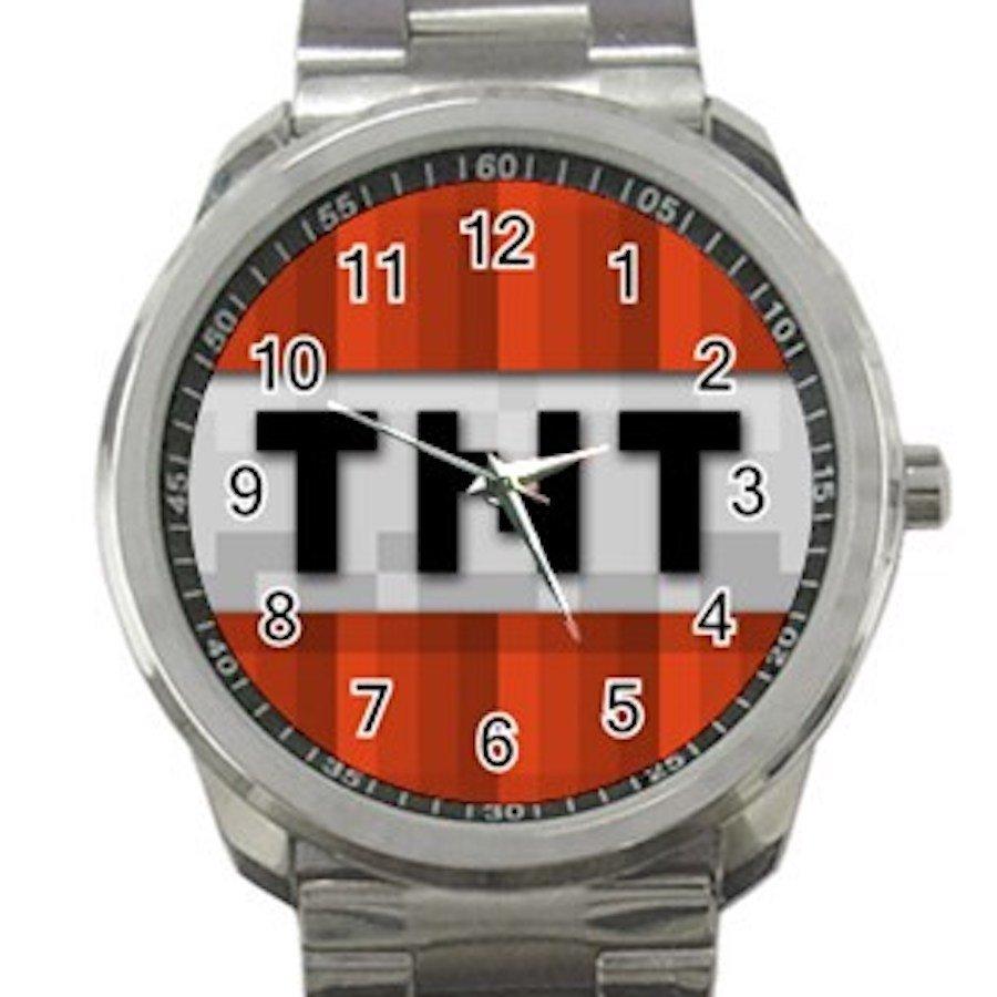 Minecraft Creeper TNT Unisex Sport Metal Watch