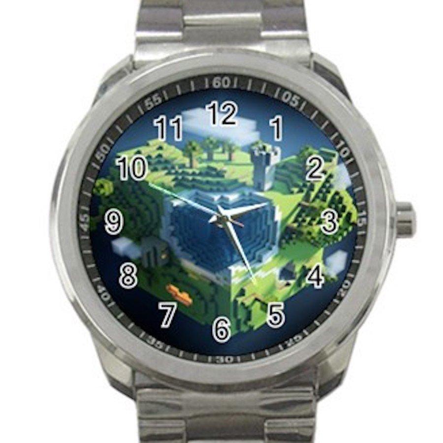 Minecraft Creeper Swords Diamond Steeve Design 11 Unisex Sport Metal Watch